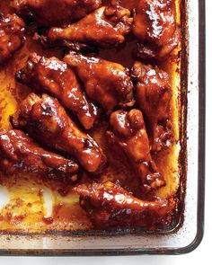 Make this recipe for Sriracha-glazed chicken with wings for a crowd-pleasing appetizer.