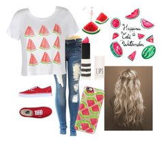 """""""ok that's too much watermelon"""" by a-dance02 ❤ liked on Polyvore featuring Ally Fashion, Casetify, Topshop and Vans"""