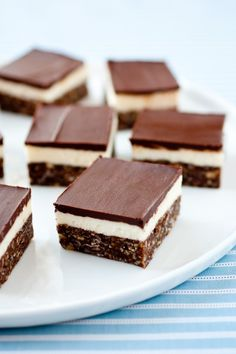 Nanaimo Bars - these are so good! Chocolate, graham cracker, coconut bottom layer, cream filling and chocolate topping.