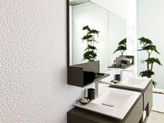 Piastrella da rivestimento 3D in ceramica 3D: motivo geometrico GLOBE WHITE Porcelanosa