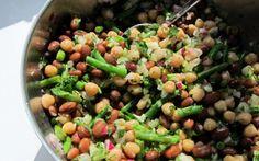 Pressure Cooker Three Bean Salad – SUPER FAST! | Vegan except for the sugar.
