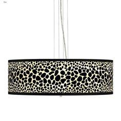 """Leopard Giclee 24"""" Wide 4-Light Pendant Chandelier #pendants #pendantlights #pendantlighting #lighting #lightingdesign #lightingideas Chandelier Shades, Pendant Chandelier, Pendant Lighting, Island Pendant Lights, Island Pendants, Multi Light Pendant, Mini Pendant, Leopard Pattern, White Acrylics"""
