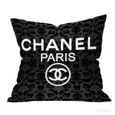 Dark Vintage Vector Background logo chanel Pillow Cases