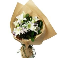 0df367835e Lily Flowers Bouquet with Matching Greens