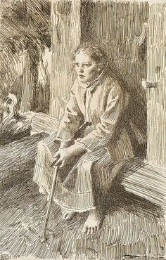 Anders Zorn (1860-1920)  Vallkulla, 1912 Etching on laid paper
