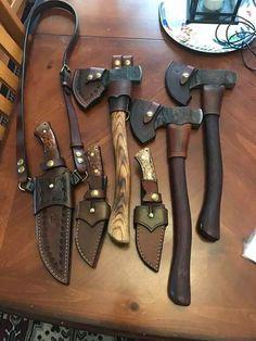 knife making metal Cool Knives, Knives And Tools, Knives And Swords, Bushcraft Kit, Axe Sheath, Knife Sheath, Survival Tools, Survival Knife, Crea Cuir