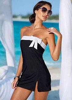 2014 Black White Mini Dress Beach Party Sundress Bath Sea Clubwear