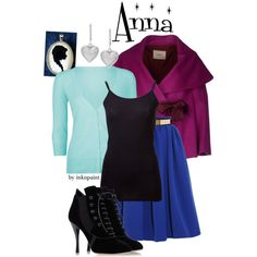 Disney outfit inspired by Anna from Frozen