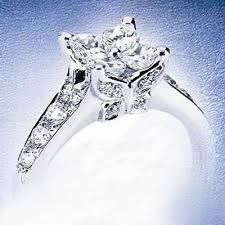 Calla Lily Butterfly Platinum Diamond Ring with Butterfly Gallery