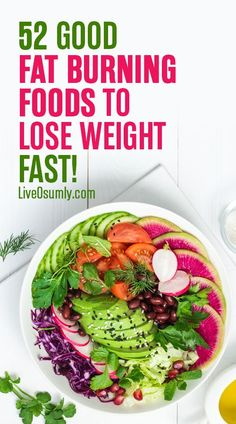 52 Good Fat Burning Foods That Will Help You Lose Weight Fast 52 Fat Burning Foods that will jump-start your metabolism and will help you burn fat effectively. Weight Loss Meals, Fast Weight Loss Tips, Diet Plans To Lose Weight, How To Lose Weight Fast, Losing Weight, Loose Weight, Weight Gain, Reduce Weight, Lose Fat