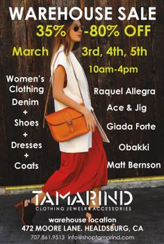 Tamarind Clothing Boutique's Semi Annual Warehouse Sale