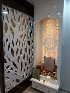 Innenarchitekt in Thane Living Room Partition Design, Pooja Room Door Design, Room Partition Designs, Bedroom False Ceiling Design, Home Room Design, Home Interior Design, Living Room Designs, Kitchen Design, House Design