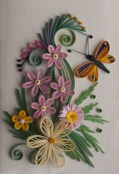 neli: Quilling card -piece of spring