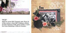 Página confeccionada por Luciana Warnowski com produtos E&C Company - publicado na revista Álbuns Decorados Novembro 2014