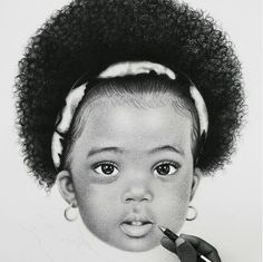 Black Child Drawing Essence Of Black Pinterest