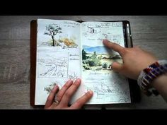 Art journal of my Kenya vacation in my fauxdori traveler's notebook - YouTube