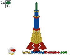 Duplo building - Eiffel Tower - complete