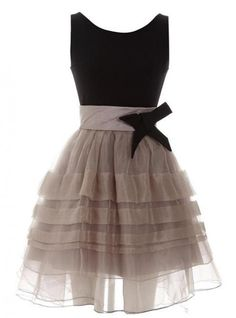 Elegant Pompon  Dress with Bow$82
