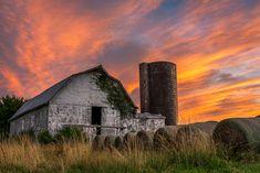 """Chancellorsville Sunset"" (Chancellorsville in Spotsylvania County), John Ernst Virginia, Donate Now, Old Barns, Fire, Sunset, House Styles, Sunsets, The Sunset"
