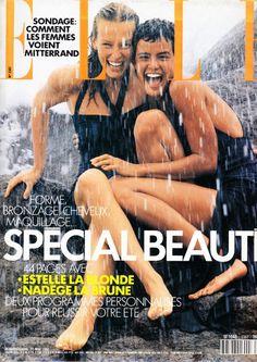 Estelle Lefebure & Nadege Du Bospertus. Mai 20, 1991