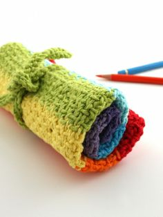 Bright Pencil Case | Yarn | Free Knitting Patterns | Crochet Patterns | Yarnspirations