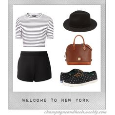 Welcome to New York by victoriaferguson on Polyvore featuring Topshop, T By Alexander Wang, Keds, Dooney & Bourke, Forever 21 and Polaroid #HeartMyBlog