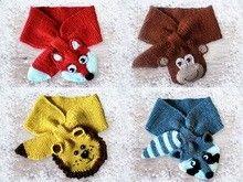 Schal für Kinder - und Kleinkinder mit Tiermotiven