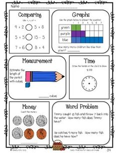 Morning Work Freebie for 2nd grade by Shelly Sitz | Teachers Pay Teachers
