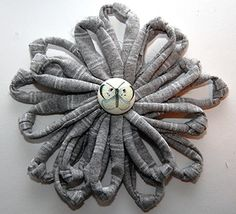 How To: Make a T-shirt Flower Brooch  TUTORIAL  @Della Chan Grace Hethcox, a nice variation on the brooches you've made. I've got the tshirts :)