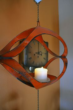 Robert & Michael's Midcentury Pad..love this candle holder