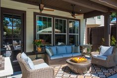 Eclectic yet Contemporary Outdoor Seating Area