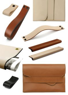 Handcrafted leather tech accessories by new Melbourne-based leather goods company MadeMeasure via thedesignfiles.net