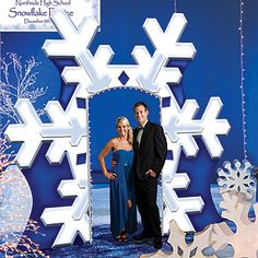 This Giant Snowflake Arch is a perfect entryway to your winter wonderland. The printed cardboard arch stands 10 feet high x 12 feet wide.