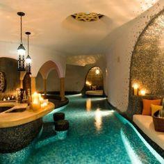 Indoor bar, pool, and lounge haha