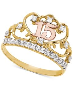 15 Rings, Jewelry Rings, Gold Rings, Jewelery, Jewelry Watches, I Love You Ring, Sweet 15 Dresses, Cute Ear Piercings, Rings For Girls