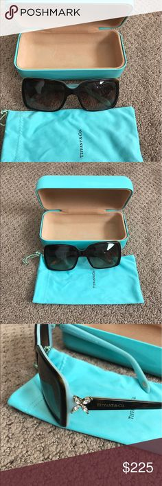 Tiffany & Co. Sunnies 100% Authentic Tiffany & Co. Sunnies. Beautiful brown tortoise shell. Rhinestones on the side! Beautiful condition. Very very gently used! Comes with soft and hard case. Smoke free home Tiffany & Co. Accessories Sunglasses