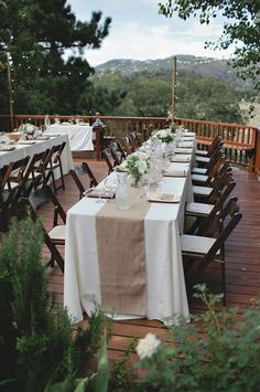 outdoor porch wedding reception
