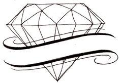 Diamond Tattoo 2 by ~Metacharis on deviantART Diamond Tattoo Designs, Diamond Tattoos, Henna Tattoo Designs, Mini Tattoos, Sexy Tattoos, Sleeve Tattoos, Corona Tattoo, Calligraphy Words, Tatting