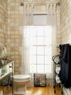 Take a peek inside this Hollywood-inspired powder room, featured throughout these HGTV.com photos.