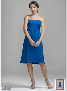 Something like this for bridesmaids? Color is called Horizon. First cute short dress I saw in about what color I want, so nothing definite here or anything!     Dress can be found at link: http://www.davidsbridal.com/Product_Crinkle-Chiffon-Short-Dress-with-Back-Cascade-Detail-83697_Bridal-Party-Bridesmaids-Shop-By-Color