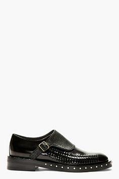 LANVIN Back Monk Strap Woven Accent Shoes Men Dress 758e63fcea3