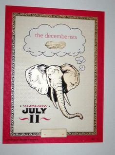 Original silkscreen concert poster for The Decemberists at The Mohawk in Austin, TX in 2008. 18 x 24 inches. Numbered out of 350 posters.