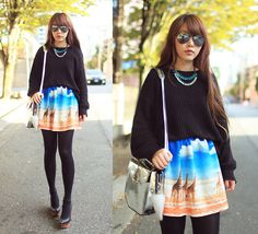Wearing a painting on my skirt (by Ivy Xu) http://lookbook.nu/look/4096816-wearing-a-painting-on-my-skirt
