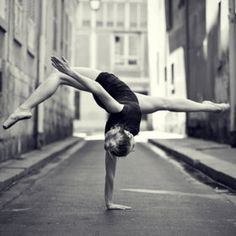 Ballet // twist your head sideways to look at this picture. It just might make sense as to how she gets in this pose.