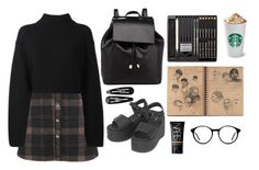 """""""WENGUE"""" by cooltured on Polyvore featuring moda, DKNY, Barneys New York, NARS Cosmetics, Clips, Dr. Martens y vintage"""