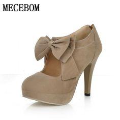 828b79f3ea9d Women s leather stiletto heels 2017 New High Quality Shoes Classic Black  Pumps Shoes plus size for