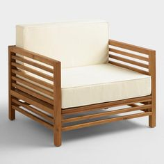 World Market Wood Praiano Outdoor Occasional Chair