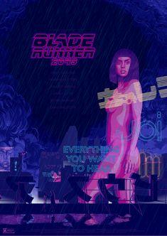 An alternate poster for Poster Spy's contest. Blade Runner Art, Blade Runner 2049, Movie Poster Art, Film Posters, Blade Runner Soundtrack, Man In Black, Denis Villeneuve, Cyberpunk Girl, Kino Film