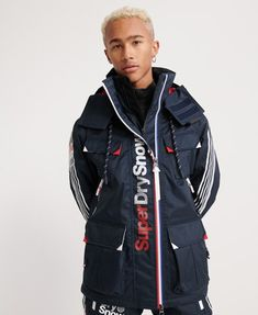 Shop Superdry Mens Ultimate Snow Combat Jacket in Deep Tricolore. Buy now with free delivery from the Official Superdry Store. Superdry Jackets, Superdry Mens, Men's Jackets, Combat Jacket, Mens Sale, Motorcycle Jacket, Rain Jacket, Windbreaker, Winter Jackets