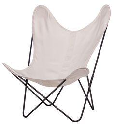 Fauteuil AA Butterfly toile / Structure noire  497-